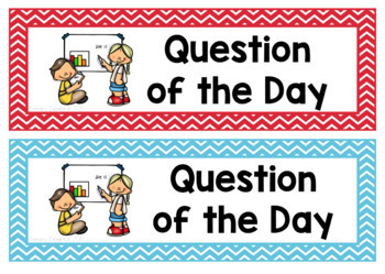 Question of the Day Headings Cards