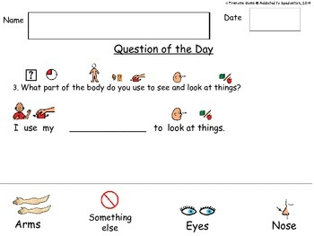 Question of the Day~ Human Body