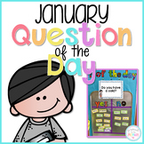 January Question of the Day Cards for Morning Meeting - EDITABLE