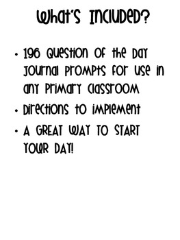 Question of the Day Journal Prompts MEGA PACK