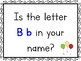 Question of the Day Kindergarten Alphabet