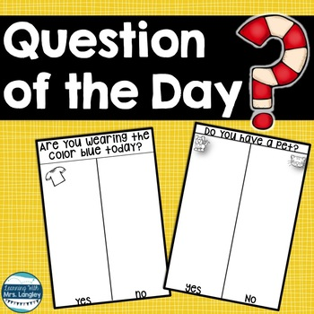 Question of the Day Kindergarten