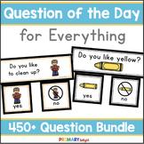 Question of the Day for Preschool, Pre-K and Preschool Mega-Bundle