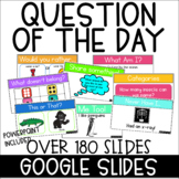 Yearlong Morning Meeting Question of the Day | Google Slides