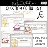 Question of the Day - November - Editable!
