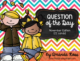 Question of the Day: November Edition {22 cards}