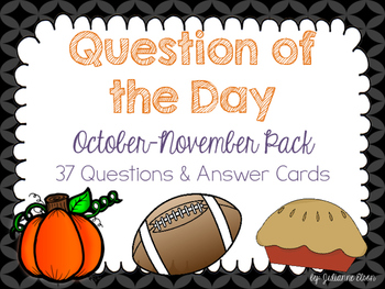 Question of the Day - October & November Pack