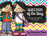 Question of the Day: September Edition {22 cards}