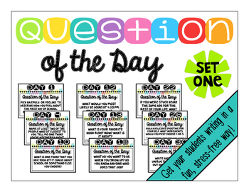 Question of the Day -- Set 1