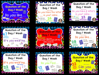 Question of the Day / Week BUNDLE * 257 Questions * Easy Prep * Ready to Go