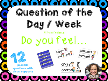 Question of the Day / Week * Do you feel * 12 * Easy Prep * Ready to Go
