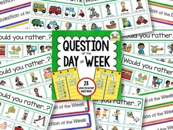 Question of the Day: Would You Rather for Preschool Pre-K