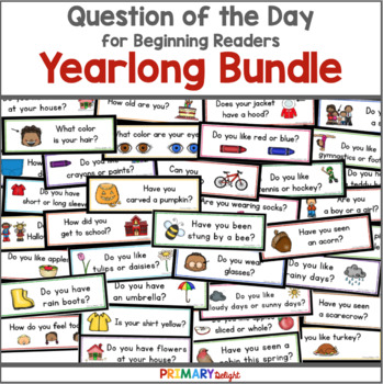Question of the Day Yearlong Bundle {Graphing Questions}