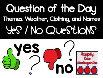 Question of the Day - Yes or No? Weather, Clothing, and Names