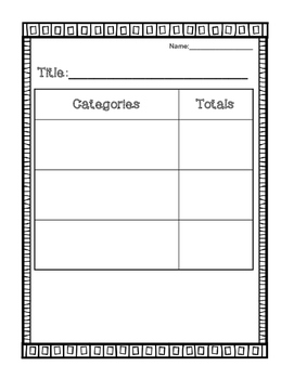 Question of the Day and Graph and Tally Templates