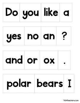 Question of the Day and Sentence Play~Arctic Animals
