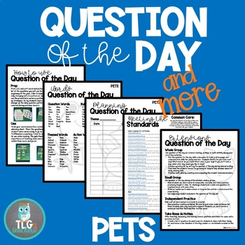 Question of the Day and Sentence Play~Pets