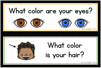 Question of the Day for Beginning Readers: Pocket Chart Cards