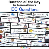 Question of the Day for Preschool, Pre-K and Kindergarten: Pocket Chart Cards