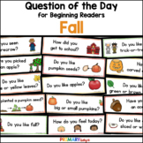 Fall: Question of the Day {Graphing Questions}