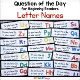 Alphabet Letters: Question of the Day {Graphing Questions}