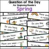 Spring Question of the Day for Preschool, Kindergarten and 1st Grade