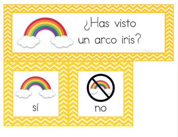 Spanish: Question of the Day for Beginning Readers - Spring Version