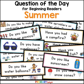Summer: Question of the Day {Graphing Questions}