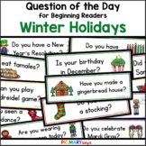 Winter Holidays: Question of the Day (Pocket Chart Cards)