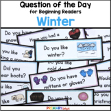Winter: Question of the Day {Graphing Questions}