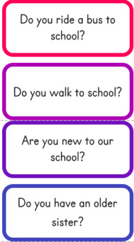 Question of the Day for Kindergarten, 200 Yes No questions and which do you like
