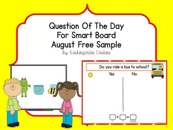 Question of the Day for SMART Board - August Sample - freebie