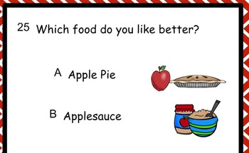 Question of the Day for SMARTboard
