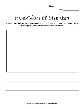 Question of the Day - math
