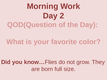 Question of the Day/Daily Fun Facts