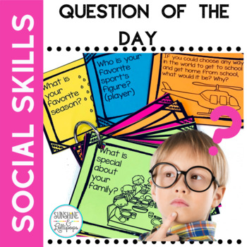 Question of the Day Let's Get Talking for PreK Kindergarten First and Second
