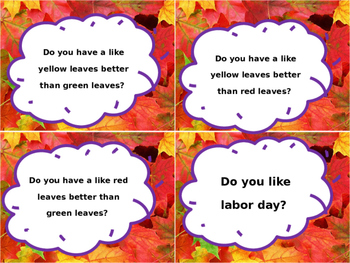 Question of the day- September