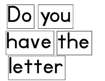 Question of the week / day letters