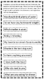 Question or Statement Activity
