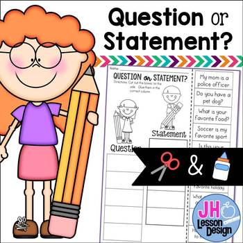 Question or Statement? Cut and Paste Sorting Activity