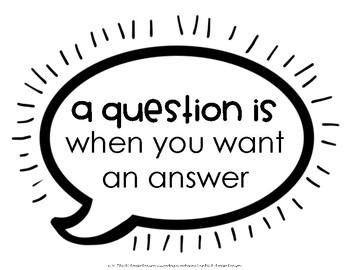 Question vs. Statement Poster Set