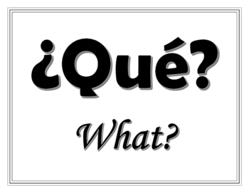 Question word class signs