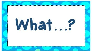 Question words polka dot border
