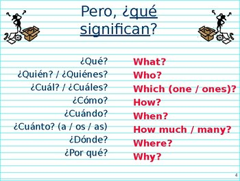 Question words in Spanish : Interrogatives