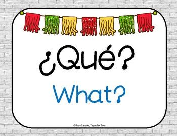Question words interrogativas freebie