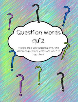 Question words quiz