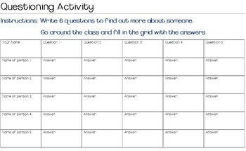 Questioning Activity