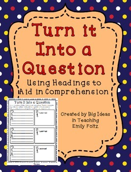 Questioning Activity Lesson for RTI Small Group GREAT!!