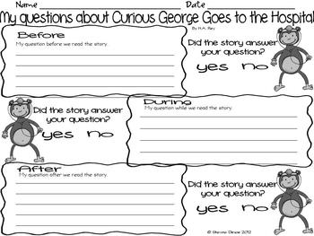 Questioning Activity inspired by Curious George by H.A. Rey