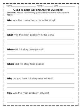 Questioning: Ask and Answer Questions to Demostrate Understanding